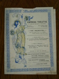 Troba at the Empress Theatre of Varieties Programme (Front Cover) - From the Tyne and Wear Archives